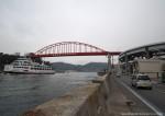 橋を渡るにはループ橋をぐるぐる大変!渡船は楽ちん^^