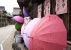 濡れたら模様のでる傘