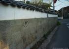 扇子型の飾り石