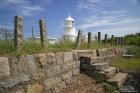 石柱に囲まれた灯台用地