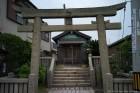 待合所横の神社 海上安全 天下泰平 安政六年