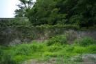 渡船場近くの石積塀