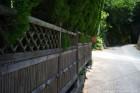 凝った竹の囲い